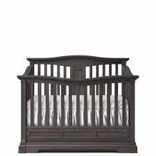 romina imperio collection convertible crib in oil grey