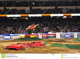 monster truck race track monster truck at angel stadium editorial stock image image 12599424