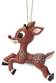 enesco jim shore rudolph nosed reindeer flying ornament