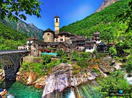 the romantic natural beauty of the picturesque village of