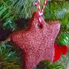 cinnamon ornaments with glitter ornaments
