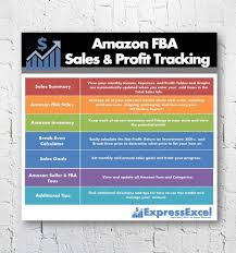 Sales Lead Tracking Spreadsheet Amazon Seller Sales U0026 Profit Excel Spreadsheet Ebay