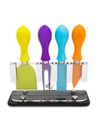 discount 5pc multi coloured cheese knife set secretsales