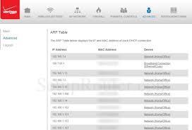 how to reset verizon router password verizon fios g1100 screenshot arptable