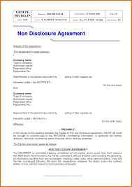 7 non disclosure agreement free itinerary template sample
