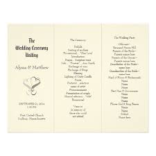 exles of wedding programs templates wedding programs templates free tri fold wedding invitation ideas