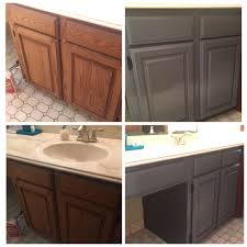 painting kitchen cabinets using deglosser before and after using varathane weathered grey 1987
