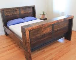 Reclaimed Wood Bed Frame Reclaimed Wood Bed Frames Etsy