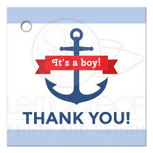 nautical baby shower favors nautical anchor baby shower favor thank you tag with blue borders