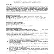 charming resume example doctor medical doctor resume example
