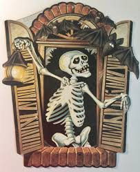 vintage 1983 beistle halloween die cuts die cut skeleton vintage