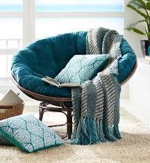 Papasan Chair And Cushion Papasan Cushion Plush Teal Blue Furniture Design