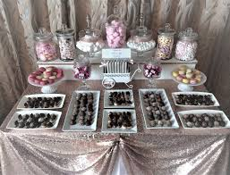 rose gold candy table baby showers christenings in nottingham