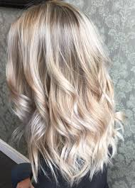 beautiful platinum blonde hair painted hair balayage highlights