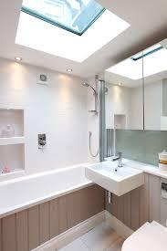 farrow and bathroom ideas ensuite bathroom with flat roof light t g bath panel mirror