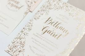 wedding invitations gold foil floral and gold foil wedding invitation ideas invitation crush