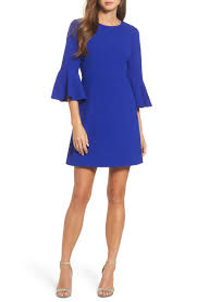blue new years dresses glam bell sleeve dresses on trend for new year s 2017 and 2018
