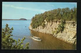 vintage postcard majestic cliffs wisconsin dells wisconsin
