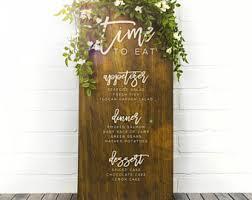 Wedding Buffet Signs by Custom Wood Wedding Drink Sign Wedding Bar Menu Menu Board
