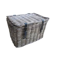 Rattan Baskets by Grey U0026 Buff Rattan Storage Trunk Chest With Straps And Buckles