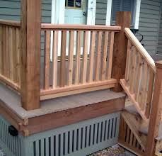 front porch railing ideas deck stair code nj handrail fencing deck