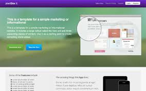 pixelflex a landing page selling for 10 00