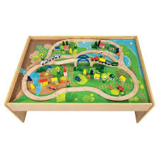 all aboard wooden train table target