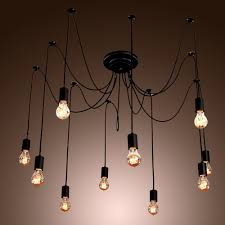 Light Bulbs For Pendant Lights Collection In Diy Industrial Chandelier Home Decorating