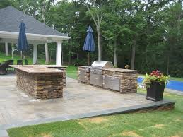 outdoor kitchens long island stone masonry contractor poolscapes