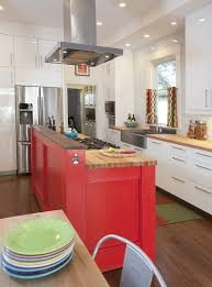 Red Kitchen Pics - a colorful eat in kitchen puts the