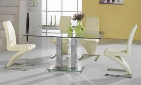 Modern Glass Kitchen Tables by Contemporary Kitchen Glass Dining Room Tables Home Design And