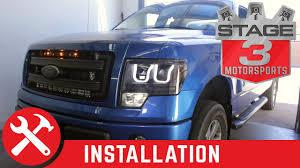 Ford Raptor Headlights - 2009 2014 f 150 svt raptor anzo u bar headlights install youtube