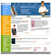 templates for bookshop free website templates with books theme 1
