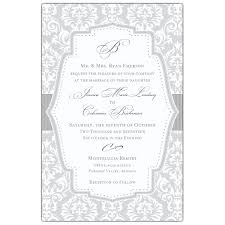 damask wedding invitations grey damask wedding invitations paperstyle