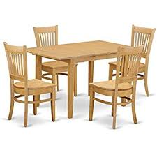 Wooden Dining Room Set Amazon Com Ikea Table And 4 Chairs Antique Stain Solid Pine