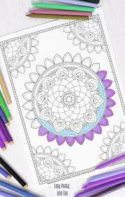 easy peasy coloring page mandala coloring page coloring for adults easy peasy and fun