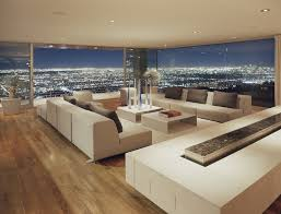los angeles modern planters indoor living room with ceiling to