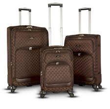 ultra light luggage sets charlie sports 3 pcs polyester ultra light suitcase travel luggage