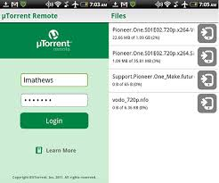 utorrent android utorrent android app available can transfer downloads to mobile