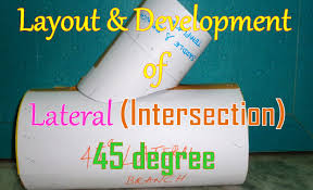 layout and development of lateral intersection 45 degree youtube
