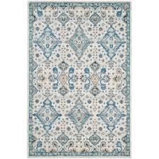 ivory rugs safavieh evoke ivory light blue 8 ft x 10 ft area rug evk224c 8