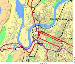map of chattanooga tn chattanooga tn zip code map zip code map