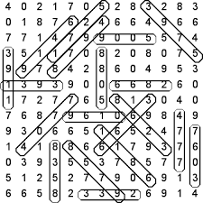 4 digit numbers solution kids word search puzzle