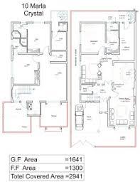 Home Design For Rectangular Plot 10 Marla House Plans Civil Engineers Pk