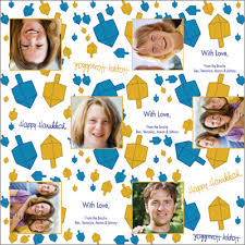 personalized wrapping paper dreidel lights personalized wrapping paper pricing options
