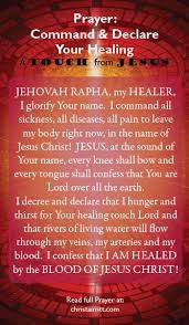 prayer command and declare healing