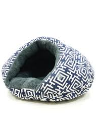 cozy cave cat bed small dog bed modern navy barker u0026 meowsky