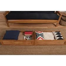 all wood storage drawer pair fits underneath full and queen size