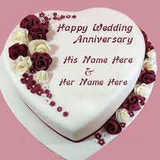 wedding anniversary cakes wedding anniversary cake images with name