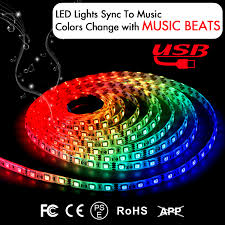 rgb led light strips music led strip light sync strobe light strip 6 6ft dream color